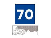 Esta señalización recomienda circular a 70 kilómetros por hora... 1