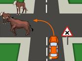 En esta situación, ¿tienen prioridad de paso los animales? 1