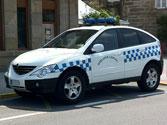 Desde un vehículo policial un agente hace señales al vehículo que circula delante para que se detenga, ¿qué debe hacer su conductor? 1