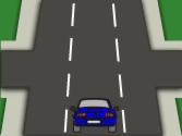 En esta calzada de sentido único y tres carriles, ¿está bien situado el vehículo para realizar un cambio de dirección a la izquierda? 1