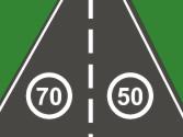 La señal de limitación de velocidad afecta a los vehículos que circulen por... 1