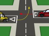 A la vista de esta situación, ¿qué vehículo pasará primero? 1