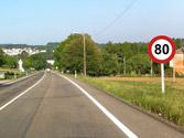 En este tramo de vía, ¿cuál es la velocidad máxima? 1