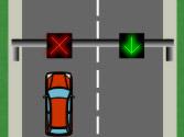 Circula por un carril y sobre él encuentra un semáforo con una luz roja en forma de aspa, ¿qué significa? 1