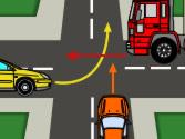 En esta intersección ¿quién debe pasar primero? 1