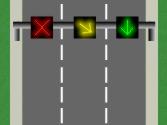 El semáforo cuadrado de cada carril obliga... 1