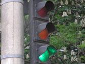 La luz verde de un semáforo circular para vehículos, indica que... 1
