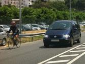 El ciclista de la fotografía, ¿circula correctamente? 1