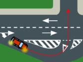 Si la vía está acondicionada con una raqueta u otro elemento similar, ¿debe utilizar dicho elemento para realizar un giro? 1