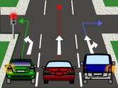 En esta intersección, ¿qué vehículos están obligados a detenerse? 1