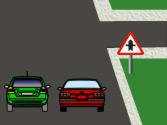 En esta vía urbana con dos carriles para cada sentido que no tiene líneas de separación de carriles, ¿por qué carril se debe circular? 1