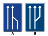 ¿Alguna de estas señales indica que finaliza un carril destinado a la circulación? 1
