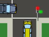 La flecha verde está iluminada. Si quiere girar a la derecha, ¿tiene preferencia de paso? 1