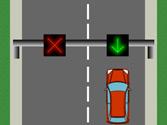 Si sobre el carril por el que circula hay un semáforo cuadrado con una flecha verde, ¿debe obedecer una señal de stop o de ceda el paso? 1