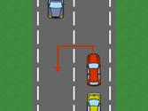 Cuando para realizar un cambio de sentido obstaculiza la marcha de los vehículos que circulan detrás, deberá... 1
