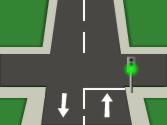 En esta intersección, ¿se puede adelantar? 1