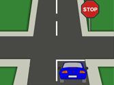 En esta intersección los vehículos están obligados a detenerse... 1
