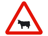 Los animales tienen preferencia de paso en el lugar indicado con... 2