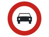 Esta señal ¿permite entrar a un turismo en la vía en la que esté colocada? 1