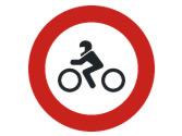 Por una vía así señalizada, ¿qué vehículos no pueden circular? 4