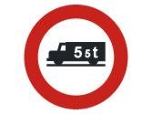Un camión, ¿puede entrar en una vía con esta señal? 1