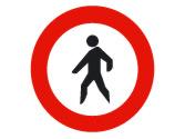 La circulación de peatones está prohibida... 2