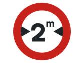 ¿A qué vehículos prohíbe pasar esta señal? 2