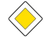 En una intersección regulada por esta señal, ¿a quién debe ceder el paso? 3