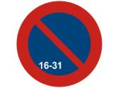 ¿Cuándo puede estacionar a la vista de esta señal? 1