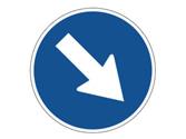 ¿Qué señala la flecha de la señal? 1