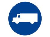 Por la calzada a cuya entrada está situada esta señal, ¿qué vehículos están obligados a circular? 1