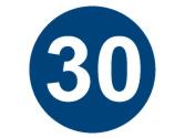 A partir de esta señal, circular como mínimo a 30 kilómetros por hora... 1