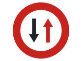 En un paso estrecho, esta señal, ¿qué indica? 1