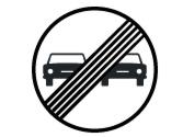 Después de la señal vertical, ¿está permitido adelantar al vehículo blanco? 3