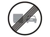 ¿A qué vehículos prohíbe el adelantamiento esta señal? 2