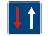 En un paso estrecho, esta señal, ¿qué indica? 3
