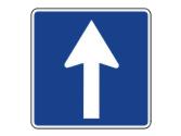 La señal indica que... 1