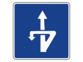 Esta señal informa de la distancia a un tramo en el que se puede efectuar un cambio de sentido... 2