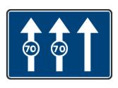 Esta señal indica que los carriles sobre los que están situadas las señales de velocidad mínima... 1